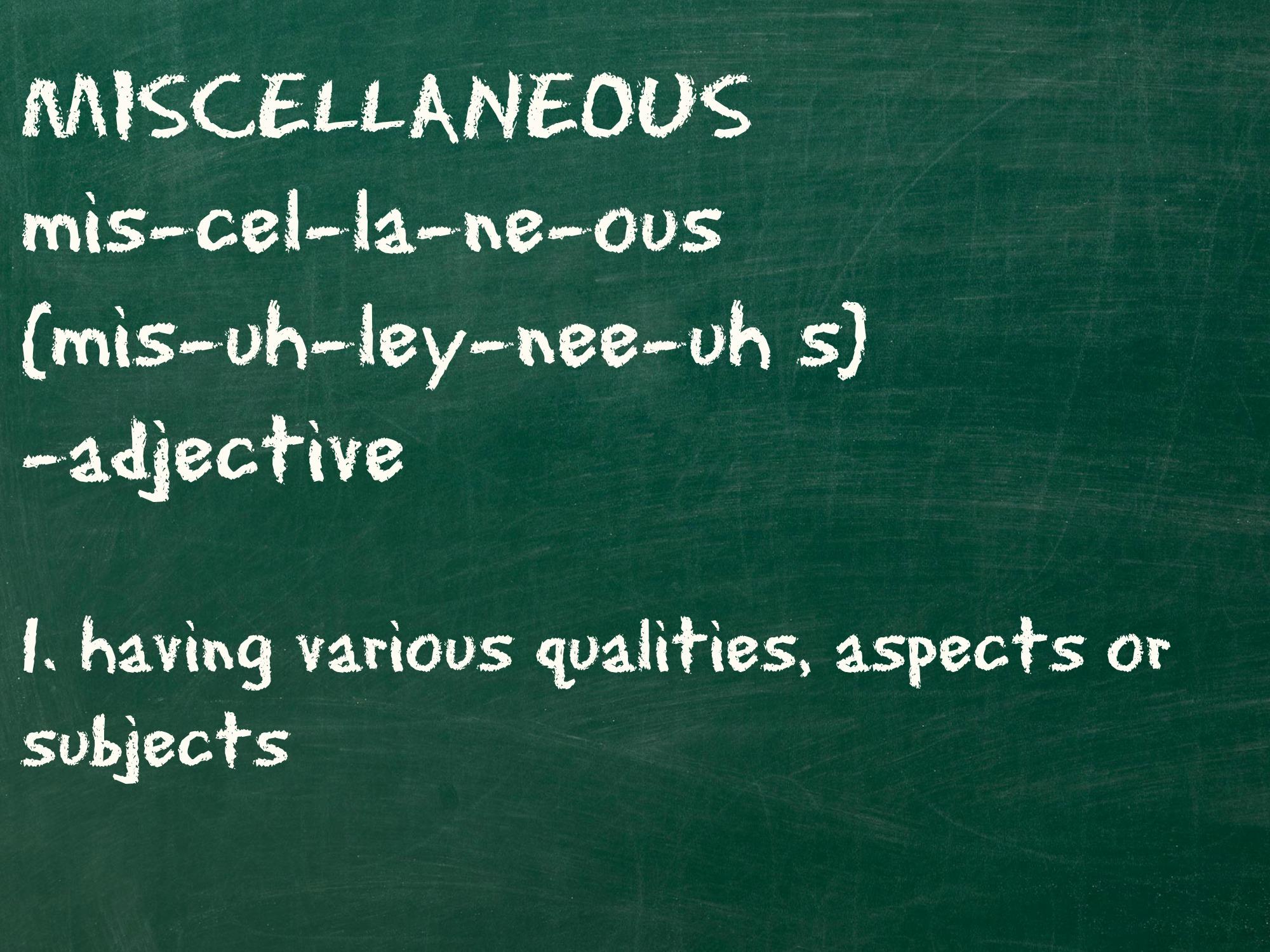 Miscellaneous definition - imgUR